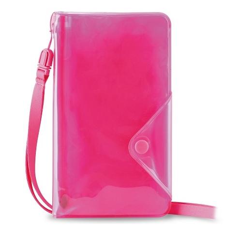 """Image of   Vandafvisende telefon taske til telefoner op til 5"""" Puro Booklet Water Wallet Pink"""