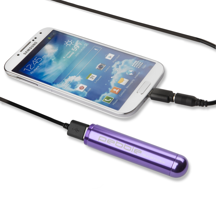 Image of   Veho PEBBLE Smartstick+ Powerbank – 2800mAh in Purple