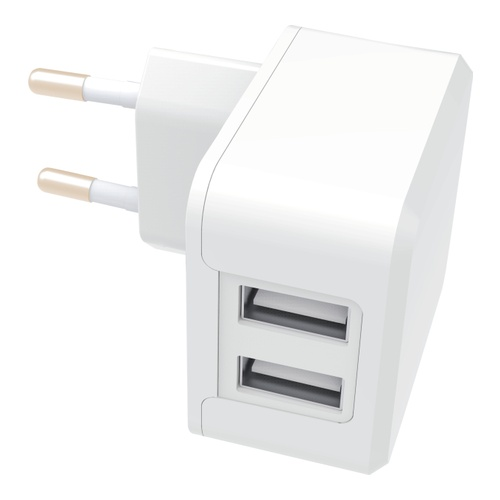 Image of   Wall Charger Dual 2 USB 2.4A + 1A 5V