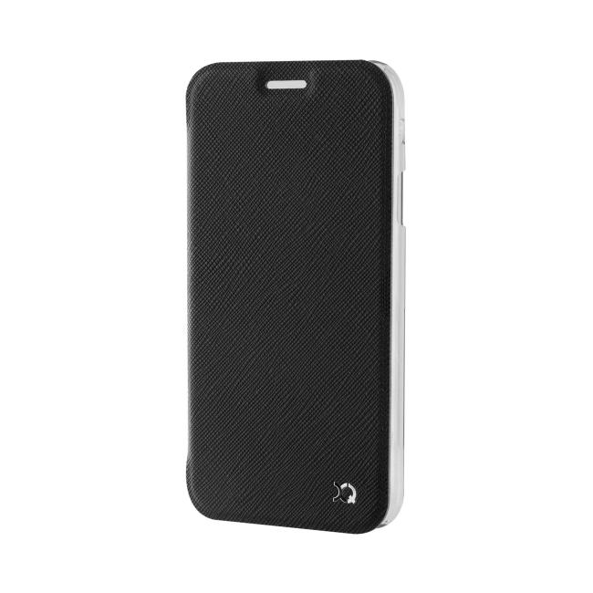 Image of   Xqisit flip cover til Samsung Galaxy A3 (2017) Transparent/Sort