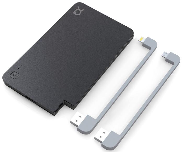 Image of   xqisit PowerBank Lightning/Micro USB 5000 mAh schwarz