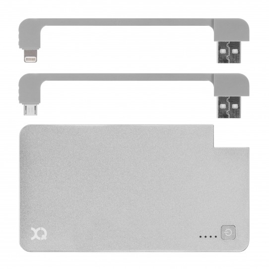 Image of   xqisit PowerBank With Lightning/Micro USB 3000 mAh silber