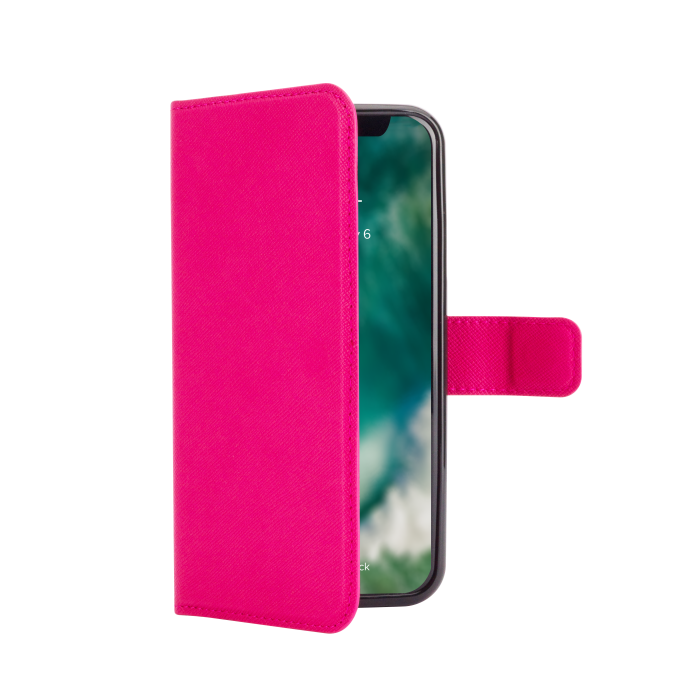 Image of   XQISIT Wallet Case Viskan for iPhone X/Xs pink