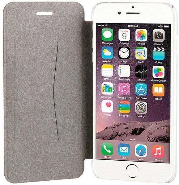 """Billede af Xqisit flip cover til iPhone 7 Plus (55"""") Transparent/Sort"""