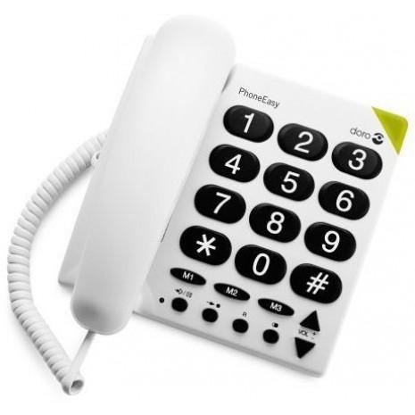 doro phoneeasy 311c fastnettelefon med store taster. Black Bedroom Furniture Sets. Home Design Ideas