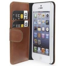 Valenta Booklet Classic Luxe til iPhone 5 / 5S / SE, Brun