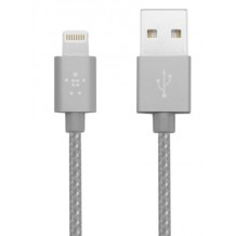 Belkin Premium Lightning Kabel til iPhone / iPad 1,2 m. Space Grey