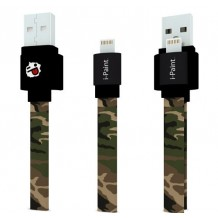 i-Paint Fladt Lightning kabel til iPhone / iPad, Apple Godkendt Camo