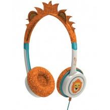 iFrogz Little Rockers hovedtelefoner med begrænset lyd til børn, Orange Løve