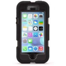 Griffin Survivor All-Terrain iPhone SE / 5 / 5S cover, Sort - Ekstra robust