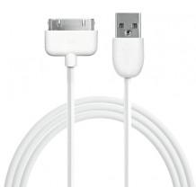 iPhone / iPad 30-pins datakabel 1 m - Hvid