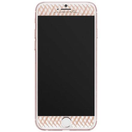 Case-Mate mønstret panserglas til iPhone 7/6s/6 rose gold