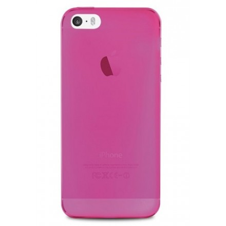 Silikone cover til iPhone 5 / 5S, Puro Ultra Slim 0.3, pink