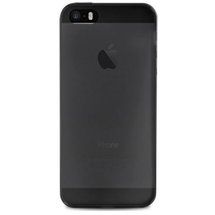 Silikone cover til iPhone SE / 5 / 5S, Puro Ultra Slim 0.3, Sort